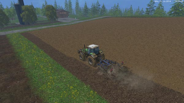 New texture cultivated ground